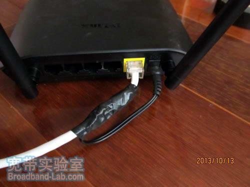 无线路由器的网线供电实验
